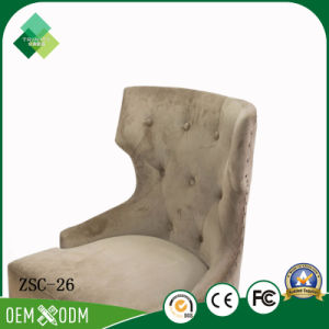 Royal Style of Beech Wingback Chair for Coffee Shop (ZSC-26) pictures & photos