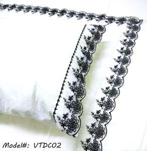 Classical Design Satin Cotton Chemical Lace Duvet Cover pictures & photos