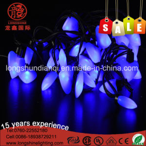 10m 100LEDs Decorative Green Heart Shape LED String Light for Christmas Decoration pictures & photos