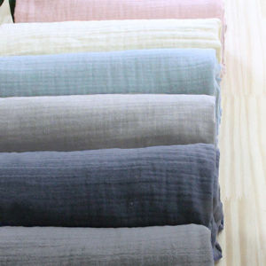Polyester Double Layers Spandex Wrinkled Fabric