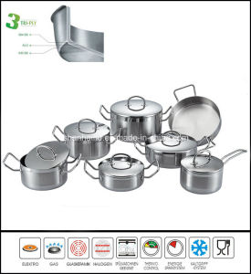 Kitchenware 3ply Body Cookware Set pictures & photos