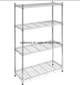 Chrome Home Storage Wire Shelving Rack (LD9035137A4RC) pictures & photos