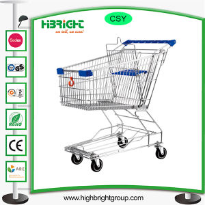 Asian Style Metal Supermarket Trolley Cart pictures & photos