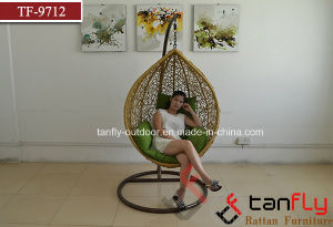 Outdoor and Indoor PE Rattan Egg Swing Chair