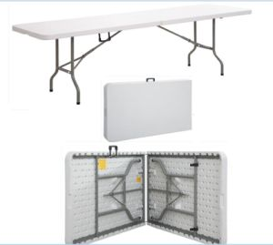 Outdoor Furniture Modern Cheap Plastic Foldable Rectangular Table pictures & photos