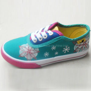Latest Fashion Sweet Girls Shoes Printing Canvas Shoes (HH1613-7) pictures & photos