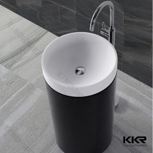 Kingkonee Wholesale Sanitary Ware Black Pedestal Basin 170109 pictures & photos
