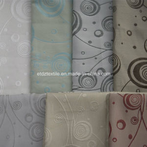 Popular Grey Color Polyester Shrinkage Yarn Dyed Window Curtain pictures & photos