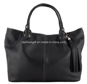 The Ultimate Fashion Stylish Black Leather Handbag pictures & photos