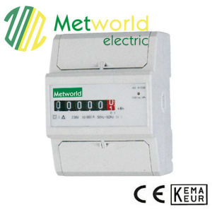 Single Phase DIN Rail Electronic Energy Meter pictures & photos