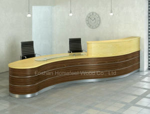 Modern Beauty Curved Salon Reception Desks Counter (HF-R026) pictures & photos