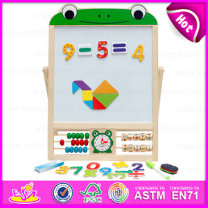 Kids Wooden Early Learning Toys Magnetic Drawing Board, Multi-Function Wooden Children Early Learning Toy W12b084b pictures & photos