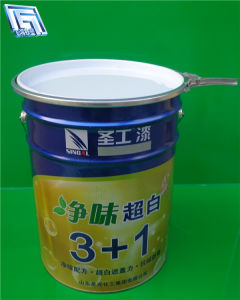 25L Paint Bucket with Handle and Lid for Chemical Products