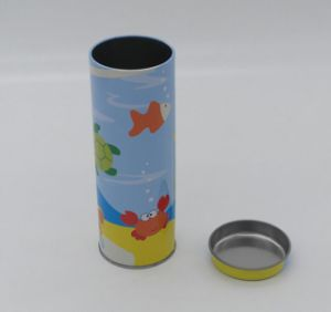 Custom Printed Round Tea Tin Can pictures & photos