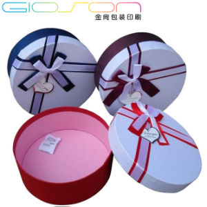 Paper Round Gift Packaging Box Printing with Bowknot pictures & photos