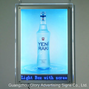 Acrylic Crystal Scrolling Advertising LED Message Display Lightbox pictures & photos