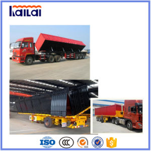 The Semitrailer 60 Ton Tri-Axles Side Dumper Semitrailer in 2017 Hot Selling pictures & photos