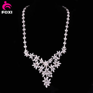 Luxury Flower White Gold Filled Necklace for Wedding pictures & photos
