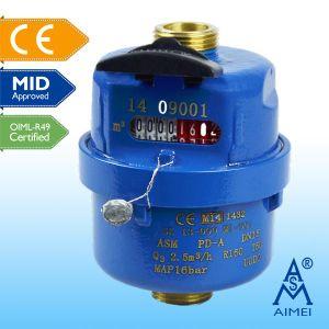 MID Certificated Volumetric Piston Brass Water Meter pictures & photos