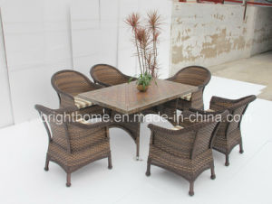 Dining Set New Design Wicker Furniture/Patio Garden Outdoor Furniture (BP-3017) pictures & photos