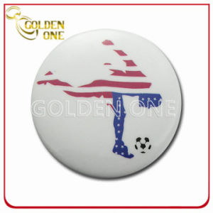 Factory Supply Screen Printed Sport Metal Pin Badge pictures & photos