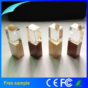 Wholesale 2016 Logo Engraving Wooden Crystal USB Flash Drive 8GB pictures & photos