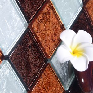 2017 Square Level up Glass Mosaic pictures & photos