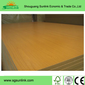 Wood Grain Melamine MDF Board for Decoration pictures & photos