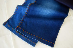 Polyester Cotton Denim Fabric Weight 7.1oz for Readymade Jeans