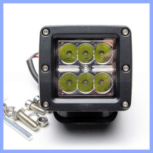 "3"" 18W 6 CREE LED Spot Glass Lens Driving Offroad Work Light pictures & photos"