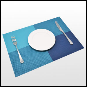 Hotel Place Mat Metallic Eco-Friendly Stock PVC Place Mat