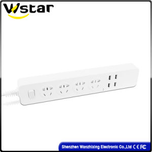 4 Way Switch Extension Socket with USB pictures & photos