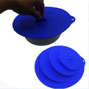 a Set of 4 Silicone Bowl Lids Reusable Suction Seal Covers for Bowls, Pots, Cups Suctions Lids Food Protection Lids pictures & photos