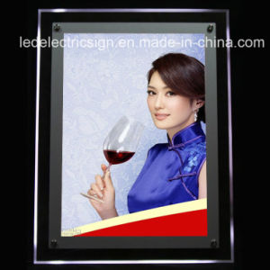 Acrylic Crystal Poster Display Board LED Advertising Light Box pictures & photos
