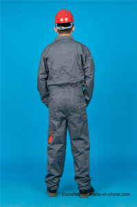 65% Polyester 35%Cotton Safety High Quality Cheap Long Sleeve Coverall (BLY2007) pictures & photos
