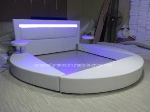 A508 Modern Round Bed with LED Light pictures & photos