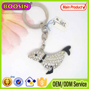 High Quality Shiny Crystal Dolphin Animal Keychain pictures & photos