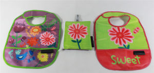 Baby Product Customized Cotton Interlock Baby Bib (MECO276) pictures & photos