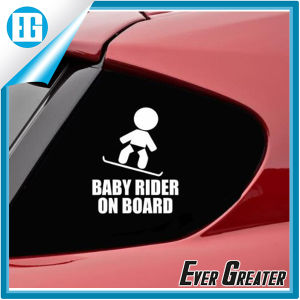 Custom Baby Rider on Board White Mini Car Sticker pictures & photos