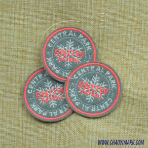 Circular Shape Colorized Screen-Printing Label 222