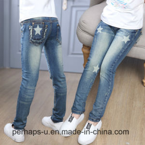 High Quality Children Clothing Girl Casual Cotton Jeans pictures & photos