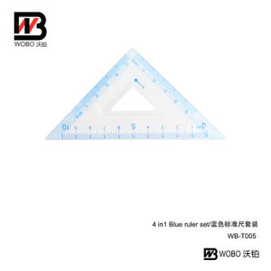 Blue Office Stationery Plastic Ruler Set for Student 2016 pictures & photos