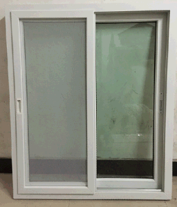 PVC/UPVC Sliding Window with Screen Net with Handle pictures & photos