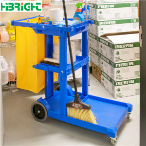 Housekeeping Cart Cleaning Service Trolley Cart pictures & photos