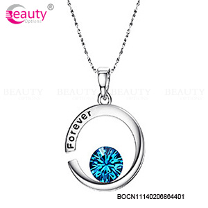 Wholesale Hyacinth Crystal Pendant Necklace for Women