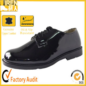 Cheap Price Black New Fashion Genuine Leather Army Footwear Military Office Shoescheap Price Black New Fashion Genuine Leather Army Footwear Military Office pictures & photos