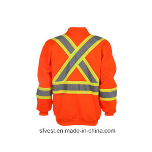 Class3 CSA Z96 High Visibility Safety Sweatshirt with Reflective Tape pictures & photos