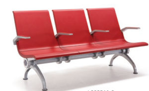 Public Waiting Area Chairs, Ladder Seat, Polyurethane PU Padded Waiting Chair H69 pictures & photos