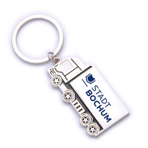 Promotion Personalized Cute Silver Truck Shaped Keyring with Logo (F1312A)