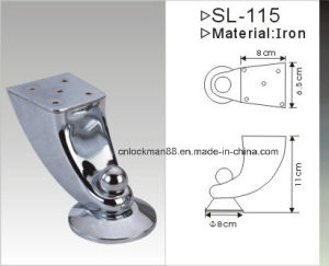 Chrome Plated Iron Furniture Leg, Sofa Leg (SL-057) pictures & photos